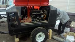 Отгрузка двух дизельных компрессоров